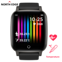 NORTH EDGE Men's Smrat Watch Body Temperature 24H Measurement Heart Rate Fitness Tracker Smart Watch For Andorid IOS