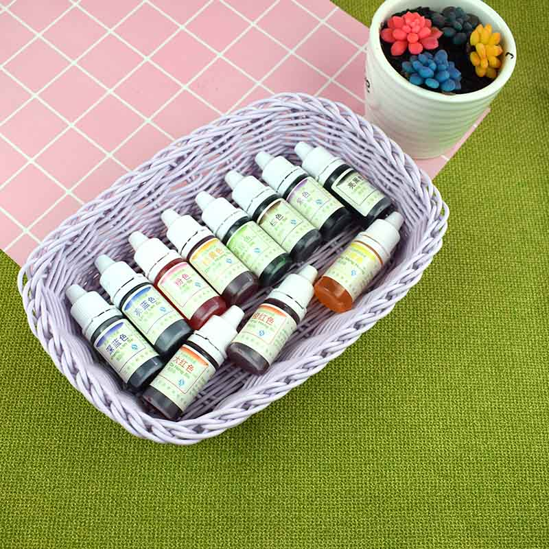 Hot Sale 10ML Epoxy Resin Pigment UV Resin Dye Dye Dye Resin Pigment DIY Handmade Craft Art Sets 10 Colors LG