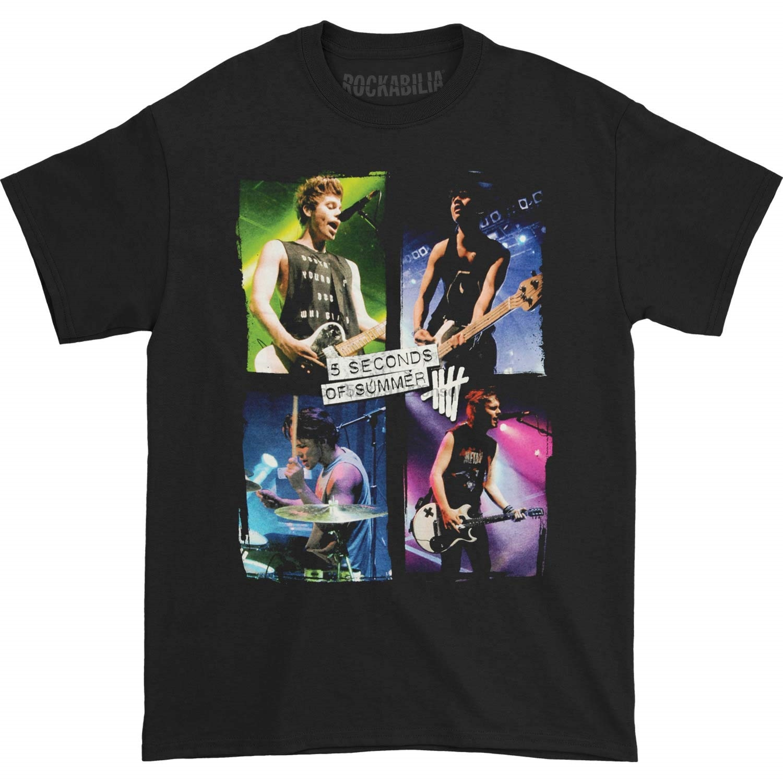 L445 Signed 5 seconds of Summer t shirt tee t-shirt autograph signature 5SOS