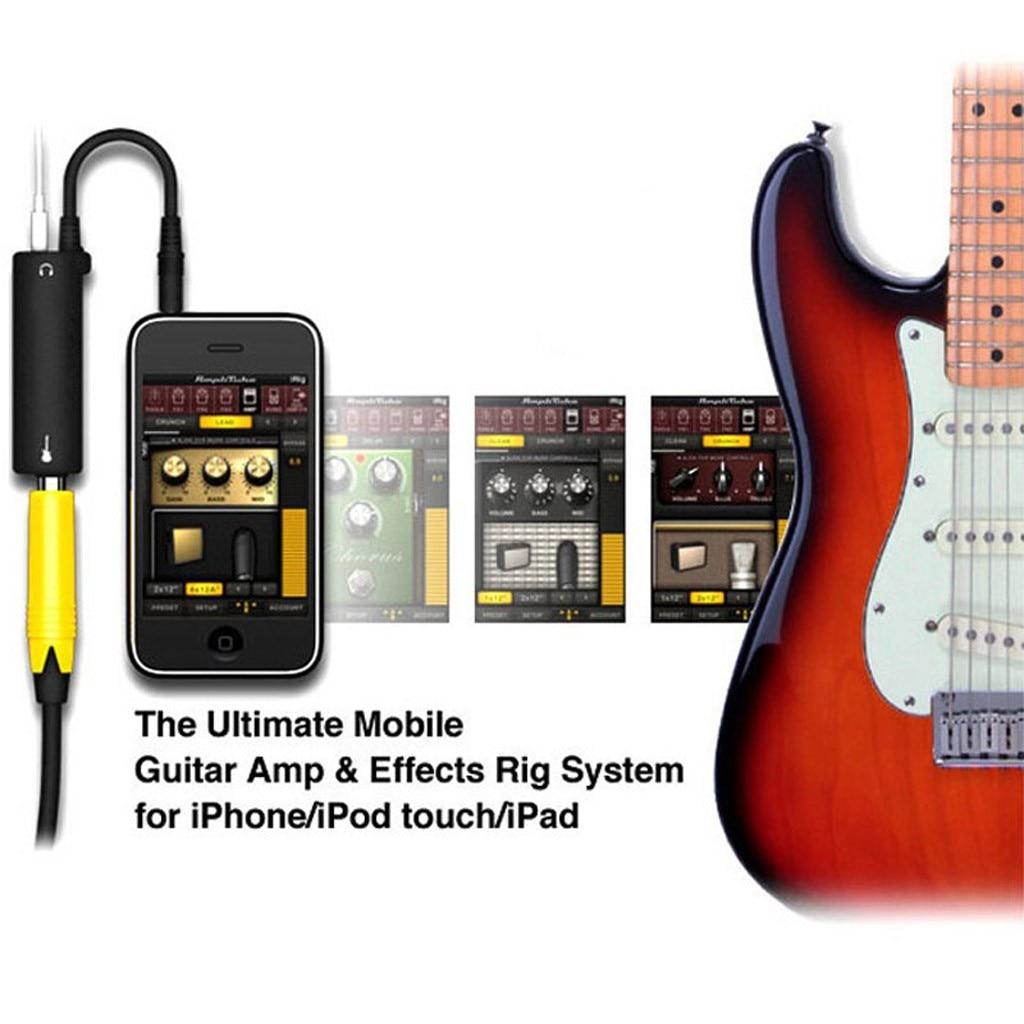 Переходник для гитары, кабель для аудио интерфейса, усилитель, педаль эффектов, адаптер, тюнер, Переходник системы для iPhone, iPad, iPod