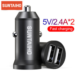 Image 1 - Suntaiho 5V 4.8A Mini USB Car Charger For iPhone iPad Samsung Mobile Phone GPS Fast Charger Car USB Charger Adapter Car Charger