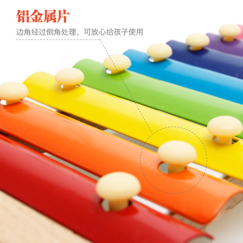 MWZ Children Wooden Hand Knock Octave Piano Infants Early Childhood Music Educational ENLIGHTEN Toy
