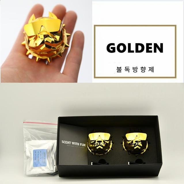 2Pcs Bulldog Car Perfume Fragrance Diffuser air fresheners with Magnet Clip Auto Vents Scent Parfume Gift Box Car Decor 3