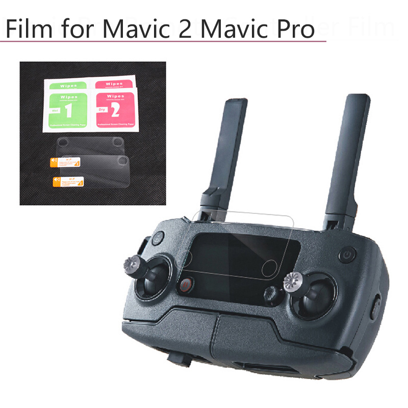 Controller Display Lens Film Screen Protector HD Clear Anti-Scratch Tempered Dust-proof Films For DJI Mavic Pro Mavic 2 Pro Zoom