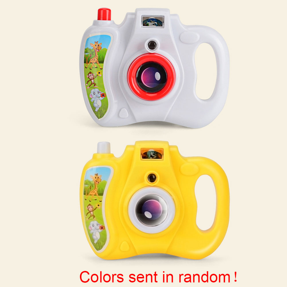 Kids Plastic Camera Toy Educational Portable Gifts Simulation Funny Easy Operate Cartoon Animal Children Light Projection