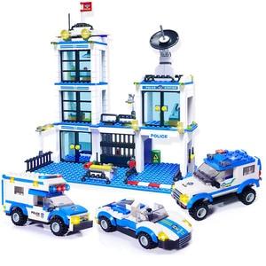 Image 3 - 890 adet şehir polis karakolu yapı taşları uyumlu SWAT şehir polis arabası hapis hücre helikopter tuğla oyuncaklar çocuklar için erkek hediyeler