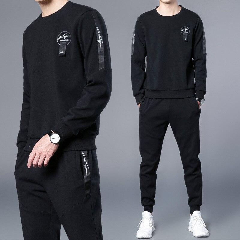 2013 New Style Spring And Autumn Leisure Sports Suit MEN'S Hoodie Men's Versatile Cotton Set-Style Korean-style