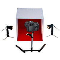 60cm Shelves Mini Studio Set Table Top Photography Studio Light Tent Kit with 4 Backdrops
