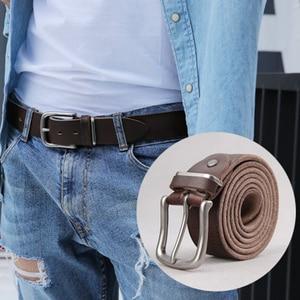 Image 2 - חגורת זכר שכבה ראשונה עור טהור עור פין אבזם חגורת זכר נוער קוריאני מזדמן פראי פשוט ג ינס חגורת גאות