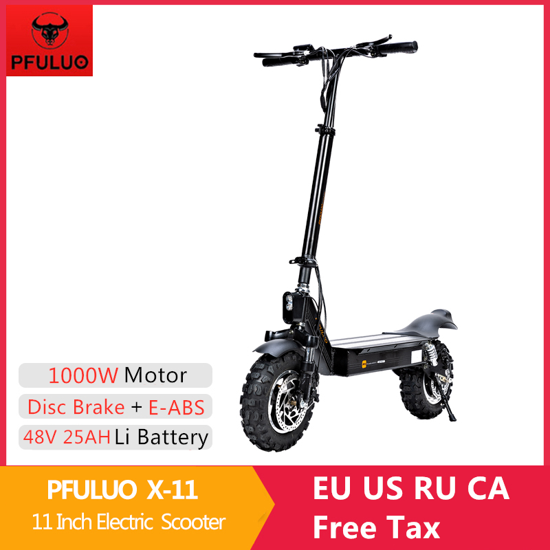 2020 New PFULUO X-11 Smart <font><b>Electric</b></font> <font><b>Scooter</b></font> 48V <font><b>1000W</b></font> Motor 11 inch wheel Board hoverboard skateboard 50km/h Max Speed Off-road image