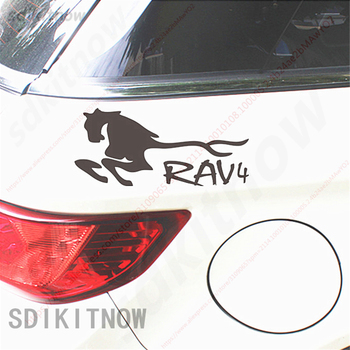 9x20cm horse Sports Sticker Racing Windows Door Body Decal Car Styling For TOYOTA RAV4 2008 2013 2017 2018 accessories image