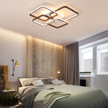 Rectangular modern led chandelier luxury living room dining room bedroom acrylic surface mounted ceiling chandelier fixtures acrylic thick modern white black led ceiling chandelier lights for living room bedroom dining room chandelier lamp fixtures