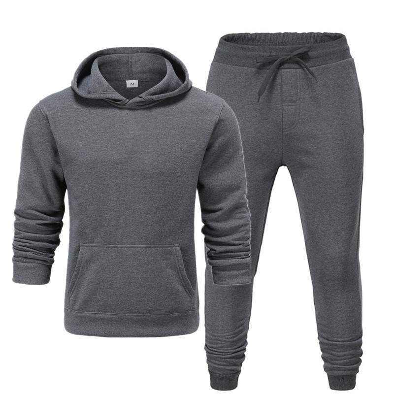 Men's Sets Fashion Sportswear Tracksuits Sets Men's Clothes Sporting Hoodies+Pants Sets Casual Outwear Sports Suits Men Hoodie S
