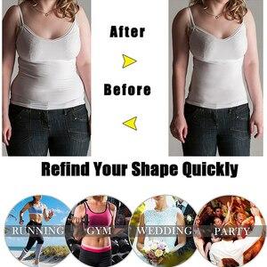 Image 5 - Corpete modelador feminino látex, espartilho modelador de cintura emagrecedor plus size cinto