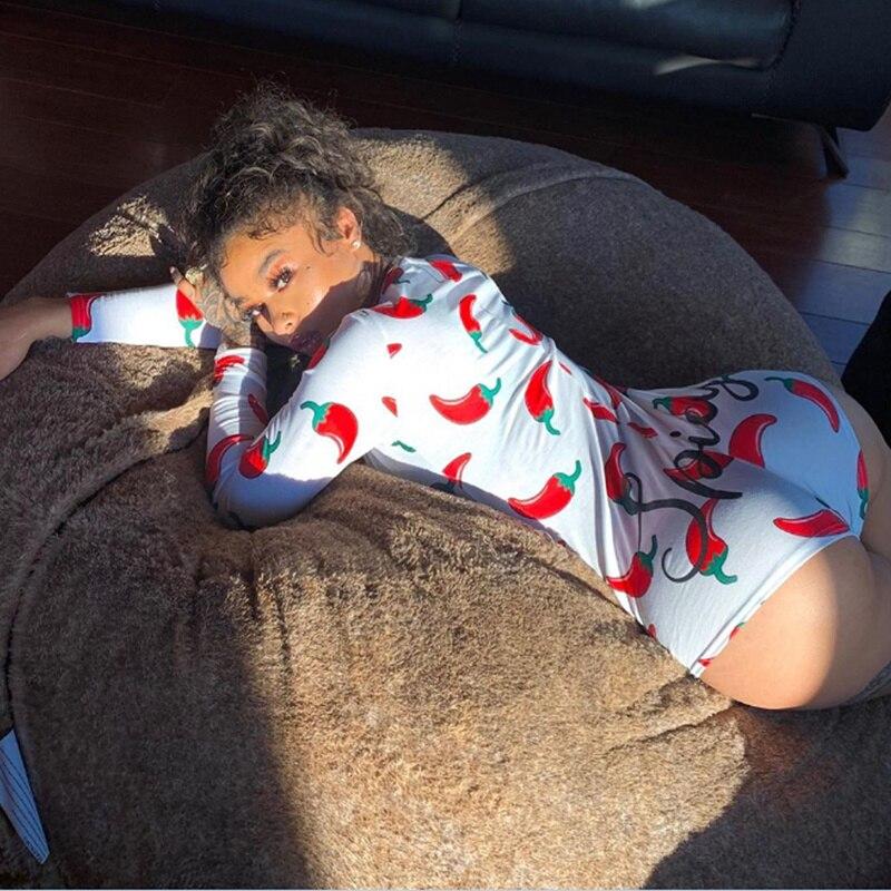 Sexy Women Bodysuit Long Sleeve Deep V Neck Bodycon Stretch Leotard Crop Tops Button Short Romper Sleepwear Overalls for women