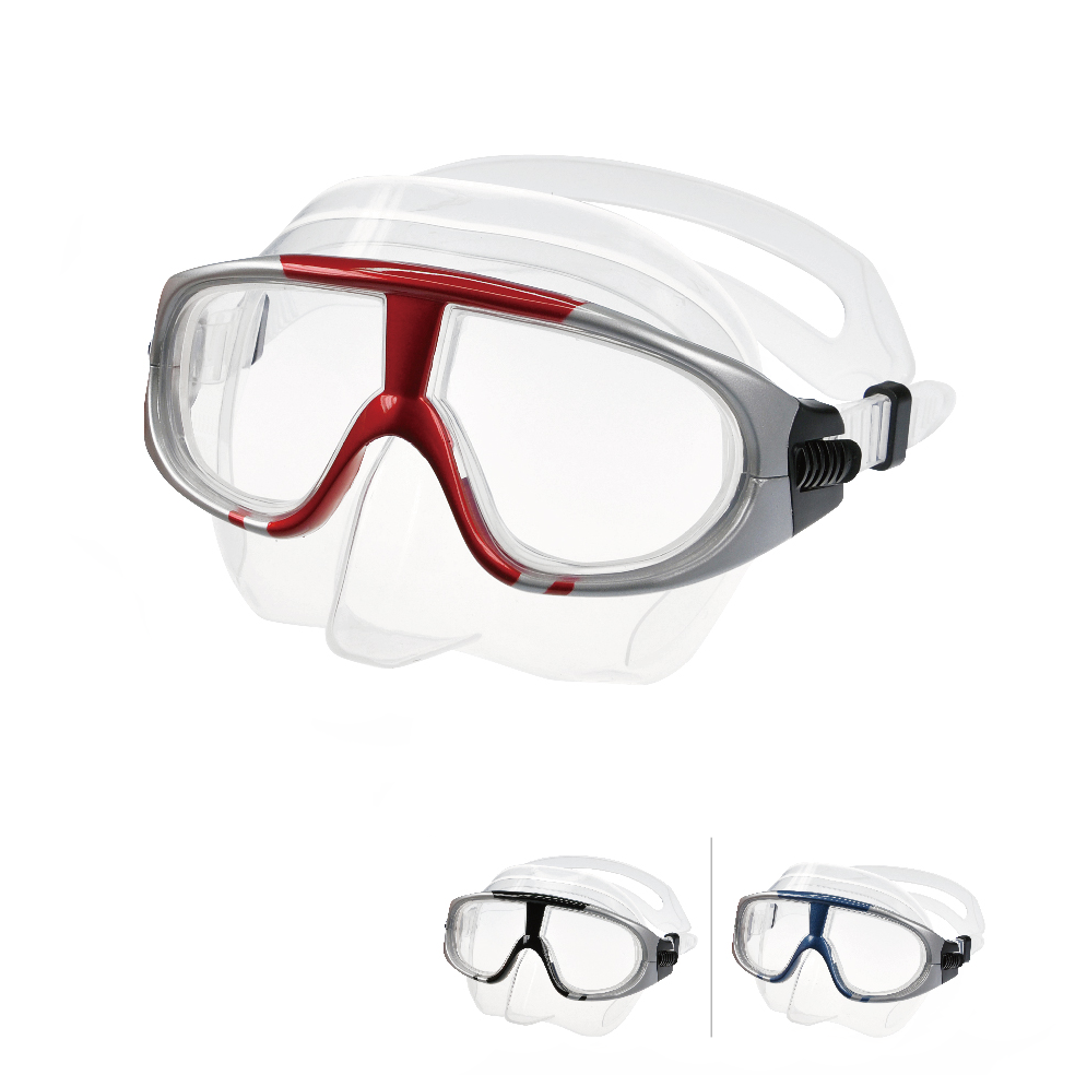LayaTone Diving Mask Glasses Scuba Diving Adult Tempered Glass Lens Freedive Snorkeling Swimming Spearfishing Underwater Fishing