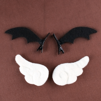 Lolita angel wings hairpin little devil soft sister girl hair accessories - sale item Costumes & Accessories