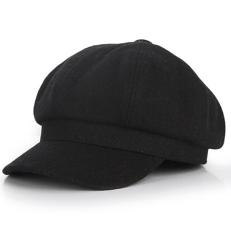 Fashion Unisex Wild Felt Hat Solid Color Octagonal Cap Painters Hat Korean Style Retro Caps For Spring And Autumn Travel 2019