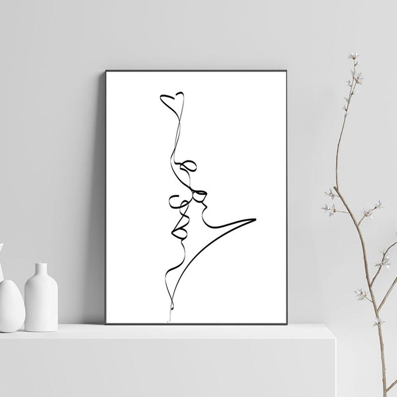 Single Line Love Prints
