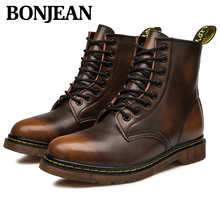 2019 Autumn And Winter New Men's Boots High-end Fashion Leather Boots Comfortable Warmth Increase Men's Boots Trendy Men's Shoes цены