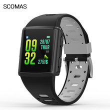 SCOMAS Smart Watch Blood Pressure Waterproof Smartwatch Women GPS Heart Rate Monitor Fitness Tracker Watch Sport For Android IOS(China)