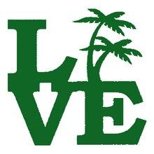Palm Tree Love Sticker For Car Window Bumper Door Beach Island Ocean Vacation Tropical Plants flower Rainforest Vinyl Decal hot