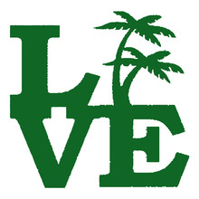 EmpireYing Palm Tree Love Sticker Window Bumper Door Beach Island Ocean Vacation Tropical Plants Flower Rainforest Vinyl Decal(China)