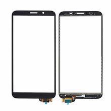 Tela de toque para huawei y5 prime 2018 DRA-L02 DRA-L22 DRA-LX2 digitador da tela exterior sensor lente vidro + 3 m adesivo