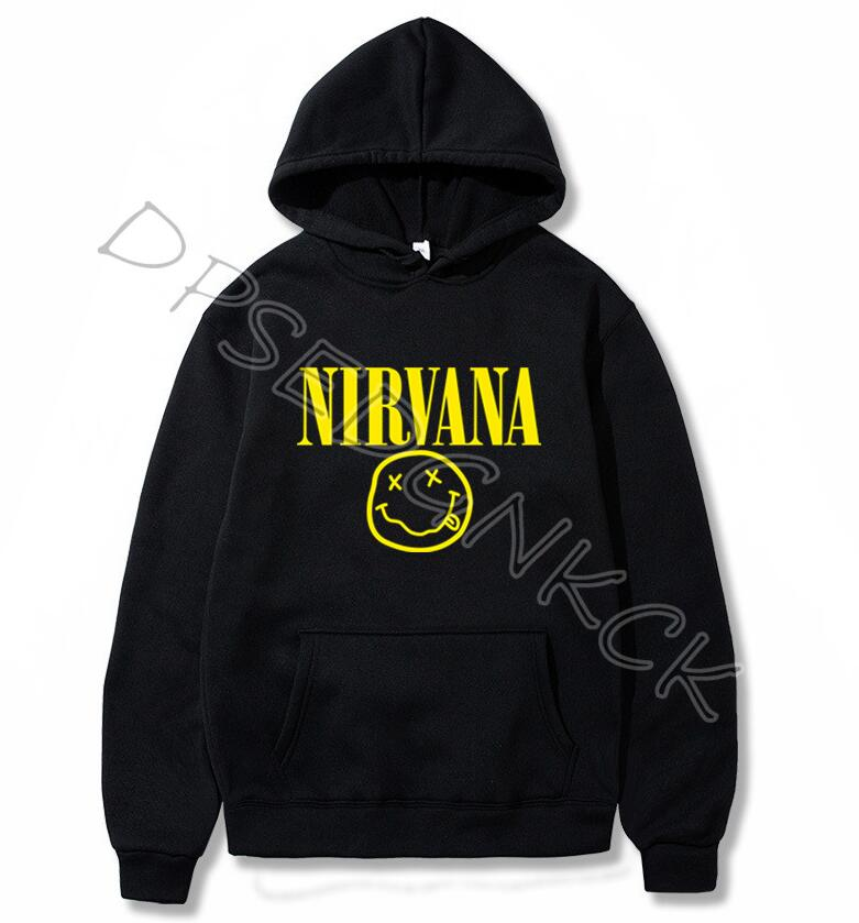 Nirvana Fashion Brand Men's Hoodies  Spring Autumn Male Casual Hoodies Sweatshirts Men And Women Sweatshirt Tops A178