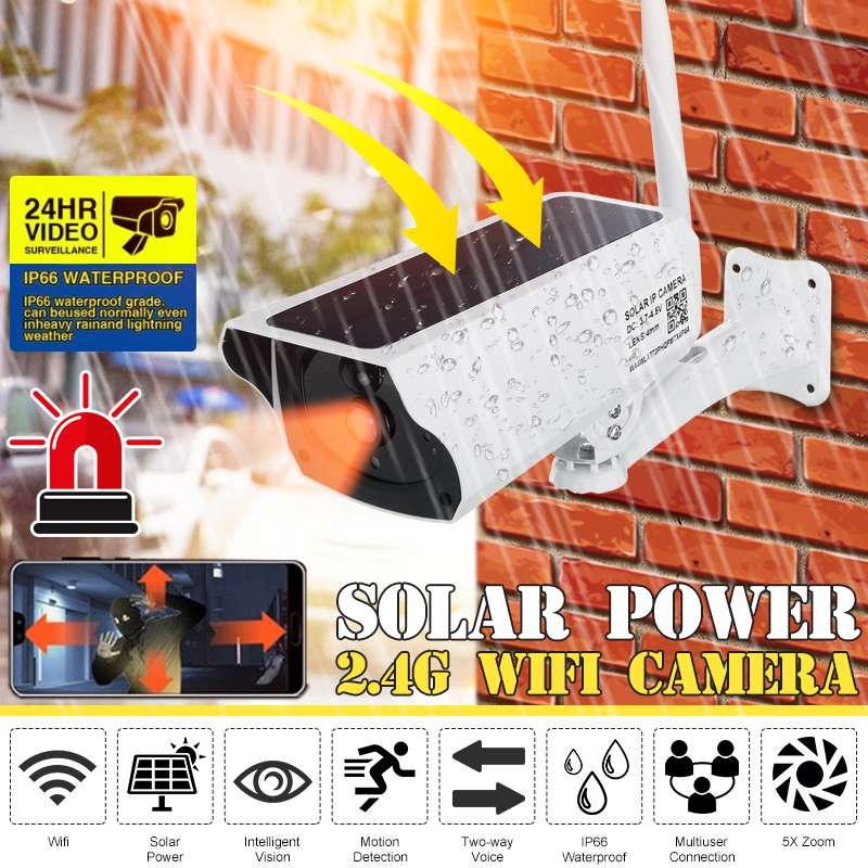 Solar IP Kamera 1080 2MP Drahtlose Wifi Kamera CCTV Sicherheit Überwachung Wasserdichte Außen Kamera IR Nacht Vision Cam