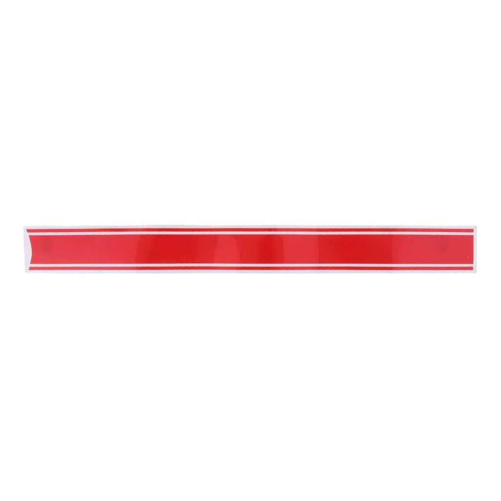 2x Weiß + Rot Gas Kraftstoff Tank Cowling Gugel Aufkleber Aufkleber Für Cafe Racer