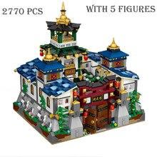 2770 pçs dobrável jingwu hall modelo mini blocos de construção da cidade rua vista com figuras kit tijolos conjunto brinquedos para o miúdo presente natal