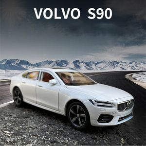 1:32 Scale For VOLVO S90 Diecast Alloy Metal Licensed Luxury Sedan Car Model Collection Model Pull Back Sound&Light Toys Vehicle