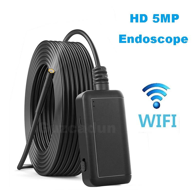 Wifi камера наблюдения эндоскоп камера бороскоп зонд видео осмотр для Android/iOS Телефон hd Жесткий провод трубка Cam