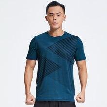 Профессиональная Мужская быстросохнущая футболка для бега свободные