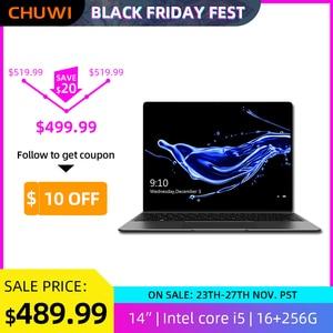 CHUWI CoreBook X Intel Core i5-7267U Laptops 14 Inch 2160x1440 Resolution DDR4 16GB 256GB SSD Winddows 10 Computer 46.2W Battery
