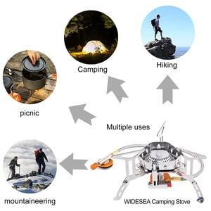 Image 5 - Widesea rüzgar geçirmez açık gaz ocağı kamp sobası çakmak turist ekipmanları mutfak silindir propan ızgara