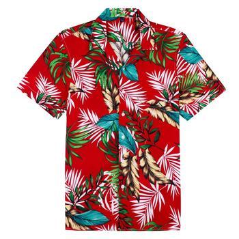 2020 Mens Short Sleeve Beach Hawaiian Shirts Summer Cotton Casual Floral Plus Size 8XL clothing Fashion