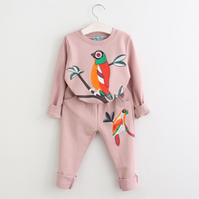 Clothing-Sets Suits Girl Kids Children Menoea Cartoon Birds-Pattern Printed Autumn