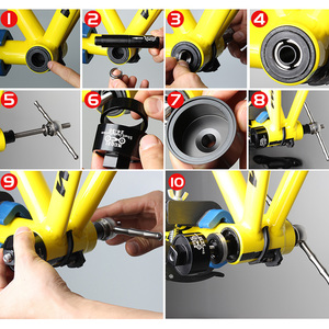 Image 4 - MUQZI Mountain Bike Road Fixes Gear Bicycle Axle Cente Press In Shaft Static Installation Disassembly Tool Suit BB86/30/92/PF30