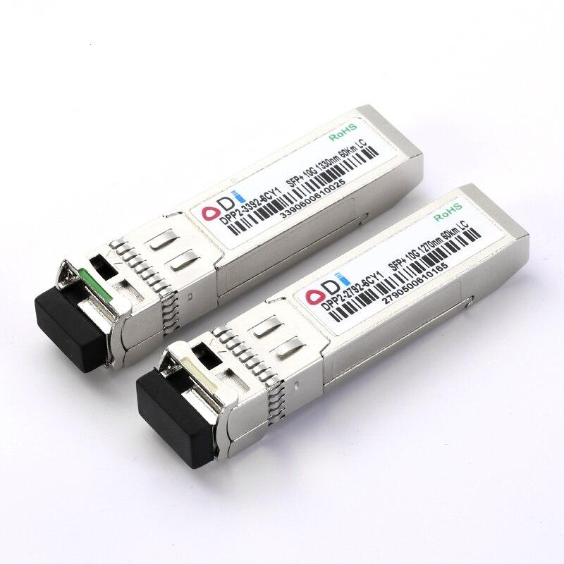 DPP2-3392-6CY1 10G SFP+ BIDI Optical Transceiver Module LC Simplex TX1270nm RX1330nm 60km Port