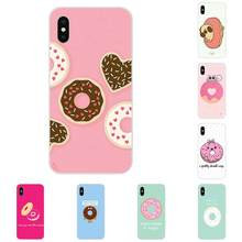 Cute Minimalist Donut For Apple iPhone 4 4S 5 5C 5S SE 6 6S 7 8 Plus X XS Max XR Phone Cover Case(China)