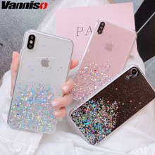 Vanniso Glitter Bling Sequins Case For iphone 8 7 Plus 6 6s Transparent Star X XR XS MAX 10 Soft TPU Cover Shine