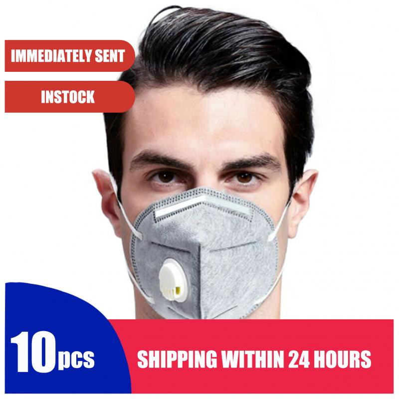 1/5/10PCS KN95 Mask(White Head-mounted And Ear-hook Mixed Hair)ffp3 Anti Dust Breathable Valved Face N99 Respirator Reusable