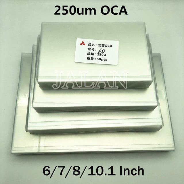 250um OCA דבק עבור Ip 6/7/7.9/8/9.7/10.1/12.9/15.6 אינץ מגע מסך זכוכית Oca למינציה Lcd תיקון עבור מיצובישי Oca דבק