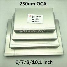 250um OCA colle pour Ip 6/7/7.9/8/9.7/10.1/12.9/15.6 pouces écran tactile verre Oca stratification Lcd réparation pour Mitsubishi Oca adhésif