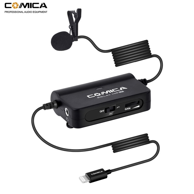 Studyset BOYA BY-M1DM Lavalier Microphone 6m Omni-directional Clip-on Lapel Video Mic for iPhone Canon Nikon DSLR