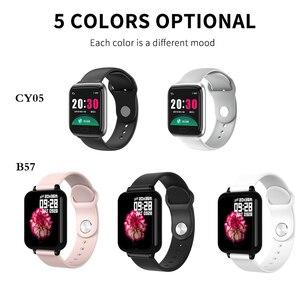 Image 5 - Bluetooth Smartwatch Sport Watch B57 Wrist Watch Blood Pressure Watch For Men Women Waterproof Watches Pedometer Smart Wristband
