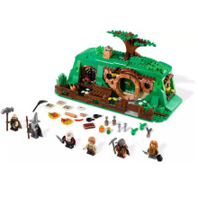 Movie series 705PCS An Unexpected Gathering tree model my world forest jungle ancient Hobbit home building blocks legoinglys(China)