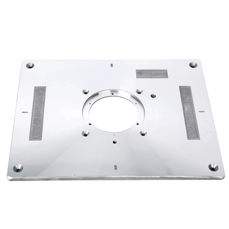 Electric Wood Milling Trimming Machine Flip Plate Guide Table Aluminum Router Table Insert Plate For Milling Cutter Machine